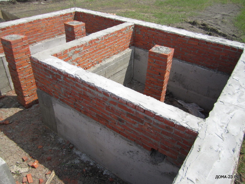 Фундамент, ул. Адмиралтейская д. 24, коттеджного поселка АДМИРАЛТЕЙСКИЙ